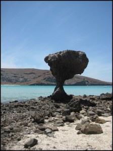 Mushroom Rock at Balandra Bay
