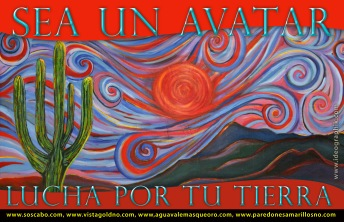 """Be An Avatar, Fight For Your Land"". Poster of the Sierras by Nanette Hayles"